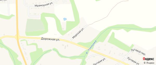 Морская улица на карте Никольского села Белгородской области с номерами домов
