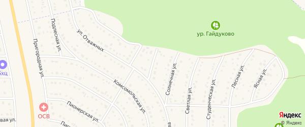 Спортивный переулок на карте Никольского села Белгородской области с номерами домов