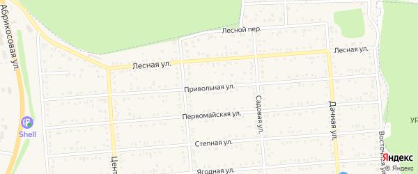 Привольная улица на карте Таврово 2-й микрорайона Белгородской области с номерами домов