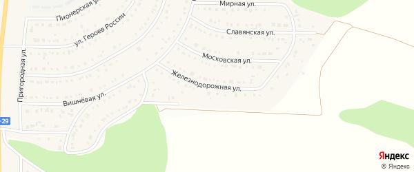 Железнодорожная улица на карте Никольского села Белгородской области с номерами домов
