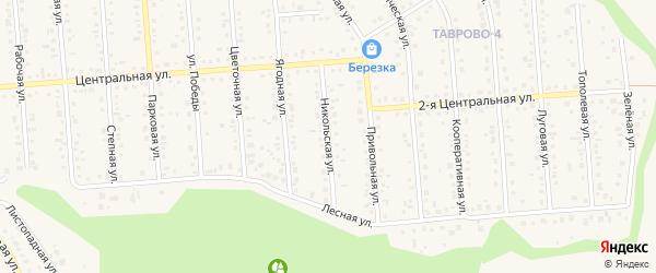 Никольская улица на карте Таврово 4-й микрорайона с номерами домов