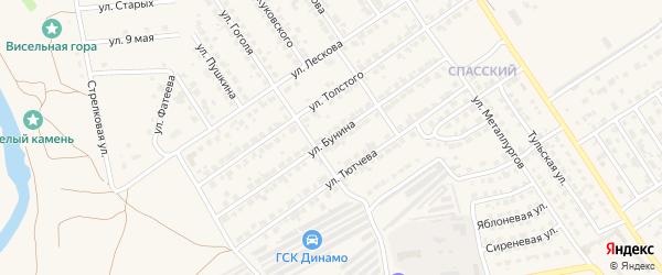 Улица Бунина на карте Мценска с номерами домов