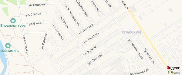 Улица Толстого на карте Мценска с номерами домов