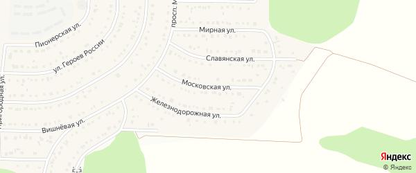 Московская улица на карте Никольского села Белгородской области с номерами домов