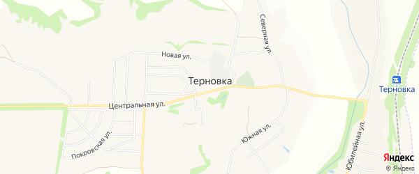 СНТ Северянка на карте села Терновки Белгородской области с номерами домов