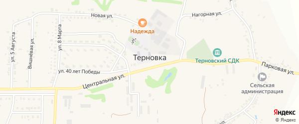 1-й Покровский переулок на карте села Терновки с номерами домов