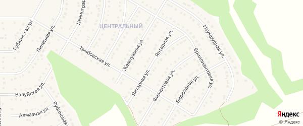 Янтарная улица на карте Никольского села Белгородской области с номерами домов