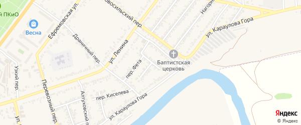 Весенний переулок на карте Мценска с номерами домов
