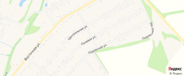 Полевая улица на карте Никольского села Белгородской области с номерами домов