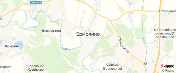Карта Ермолино с районами, улицами и номерами домов