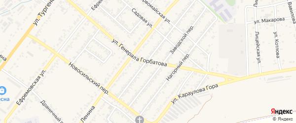 Улица Генерала Горбатова на карте Мценска с номерами домов