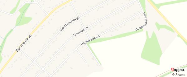Подлесная улица на карте Никольского села Белгородской области с номерами домов