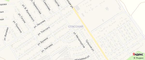 Улица Металлургов на карте Мценска с номерами домов