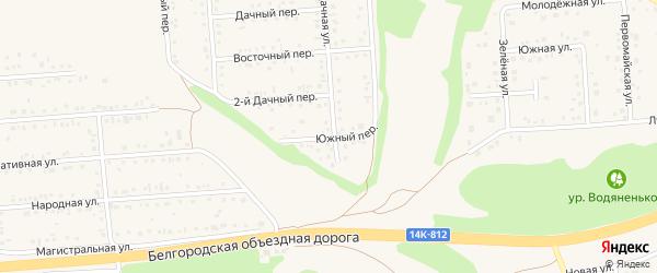 Южный переулок на карте Таврово 2-й микрорайона с номерами домов