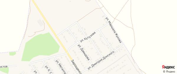 Улица Кутузова на карте Мценска с номерами домов
