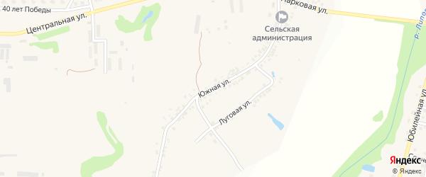 Южная улица на карте села Терновки с номерами домов