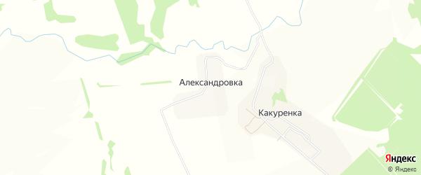 Карта деревни Александровки в Тульской области с улицами и номерами домов