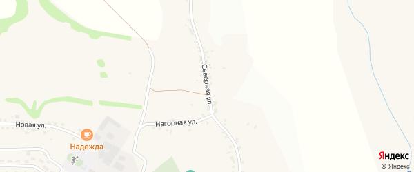Северная улица на карте села Терновки с номерами домов