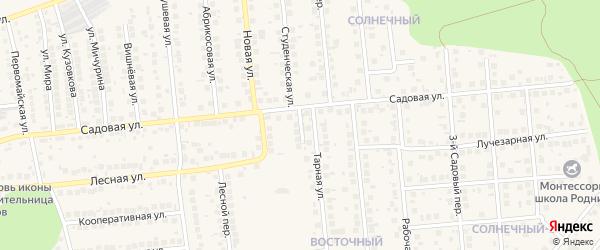 Центральный переулок на карте поселка Дубового с номерами домов