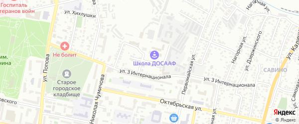 Песчаный переулок на карте Белгорода с номерами домов