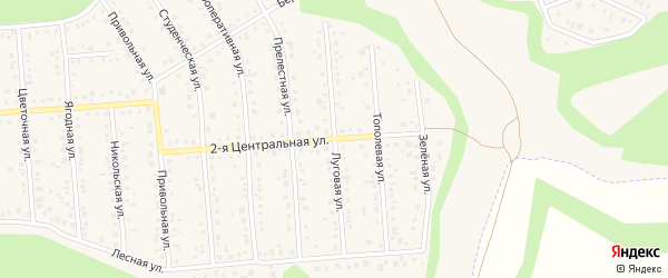 Луговая улица на карте Таврово 4-й микрорайона с номерами домов