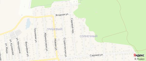 Садовый переулок на карте поселка Дубового с номерами домов