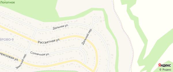 Дальний переулок на карте Таврово 9-й микрорайона с номерами домов