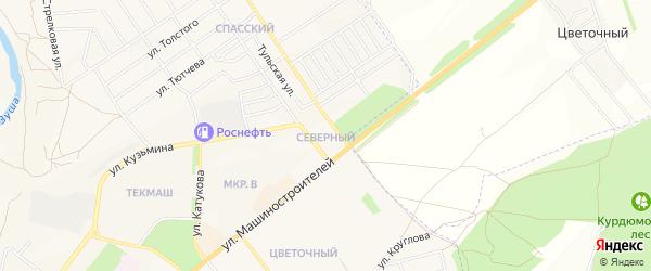 Территория ГСК Северный на карте Мценска с номерами домов