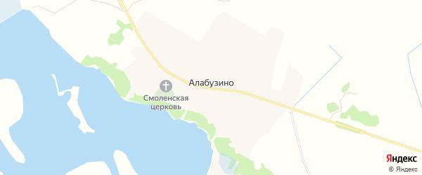 Карта села Алабузино в Тверской области с улицами и номерами домов