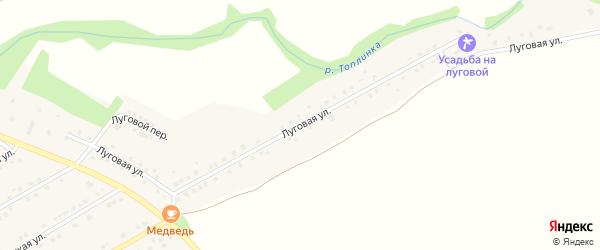Луговая улица на карте Никольского села Белгородской области с номерами домов