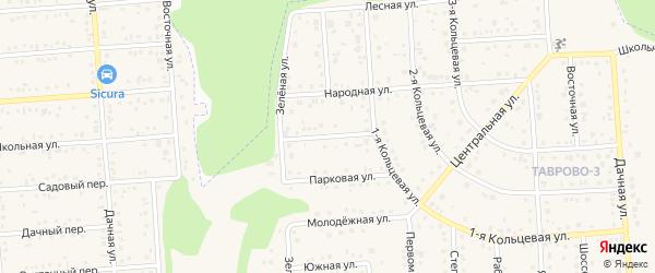 Кооперативная улица на карте Таврово 3-й микрорайона Белгородской области с номерами домов