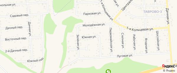 Южная улица на карте Таврово 3-й микрорайона с номерами домов