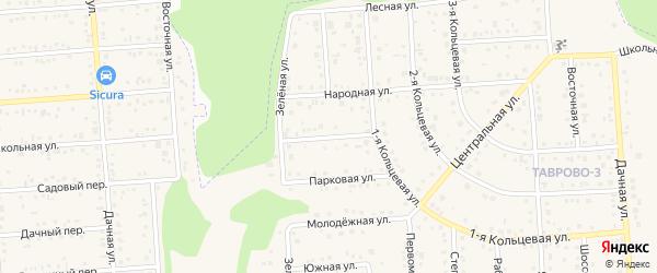 Кооперативная улица на карте Таврово 3-й микрорайона с номерами домов