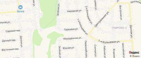 Парковая улица на карте Таврово 3-й микрорайона Белгородской области с номерами домов