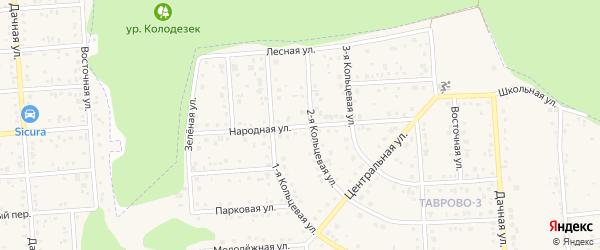 Народная улица на карте Таврово 3-й микрорайона Белгородской области с номерами домов