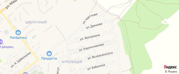 Улица Жегалкина И.И. на карте Мценска с номерами домов