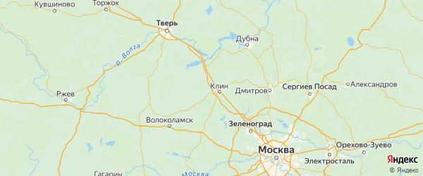 Карта Клинского района Московской области с городами и населенными пунктами