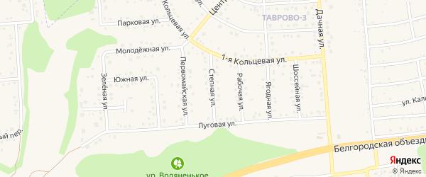 Степная улица на карте Таврово 3-й микрорайона с номерами домов