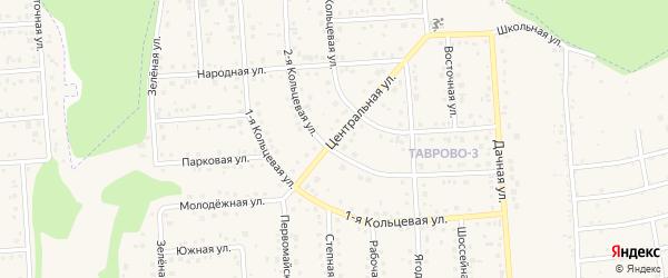Центральная улица на карте Таврово 3-й микрорайона с номерами домов