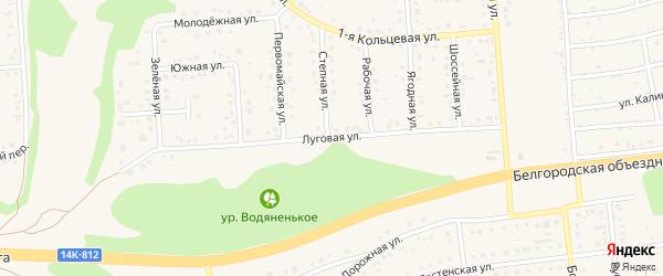 Луговая улица на карте Таврово 3-й микрорайона Белгородской области с номерами домов