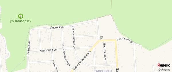 Школьный переулок на карте Таврово 3-й микрорайона Белгородской области с номерами домов