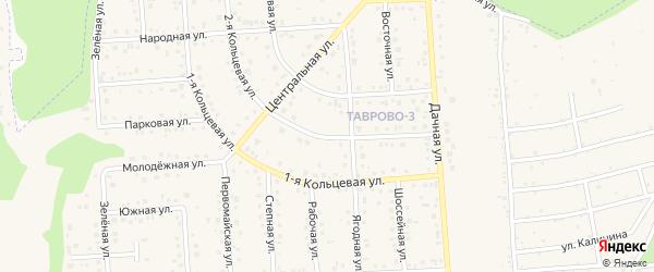 Кольцевая 2-я улица на карте Таврово 3-й микрорайона Белгородской области с номерами домов