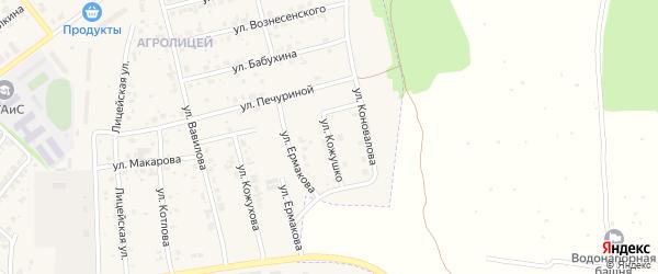 Улица Кожушко С.М. на карте Мценска с номерами домов