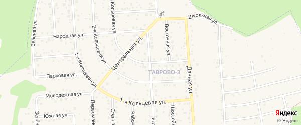Кольцевая 3-я улица на карте Таврово 3-й микрорайона Белгородской области с номерами домов