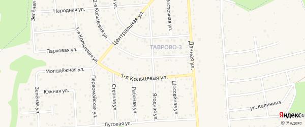 Ягодная улица на карте Таврово 3-й микрорайона Белгородской области с номерами домов