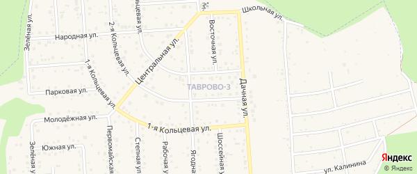 Тенистый переулок на карте Таврово 3-й микрорайона с номерами домов