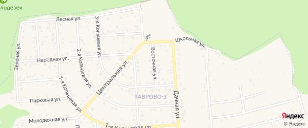 Восточная улица на карте Таврово 3-й микрорайона Белгородской области с номерами домов