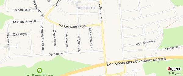 Шоссейная улица на карте Таврово 3-й микрорайона с номерами домов