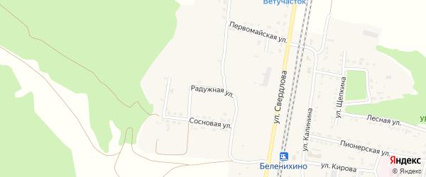Радужная улица на карте села Беленихино с номерами домов