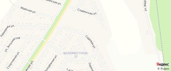 Садовая улица на карте Беломестного села Белгородской области с номерами домов